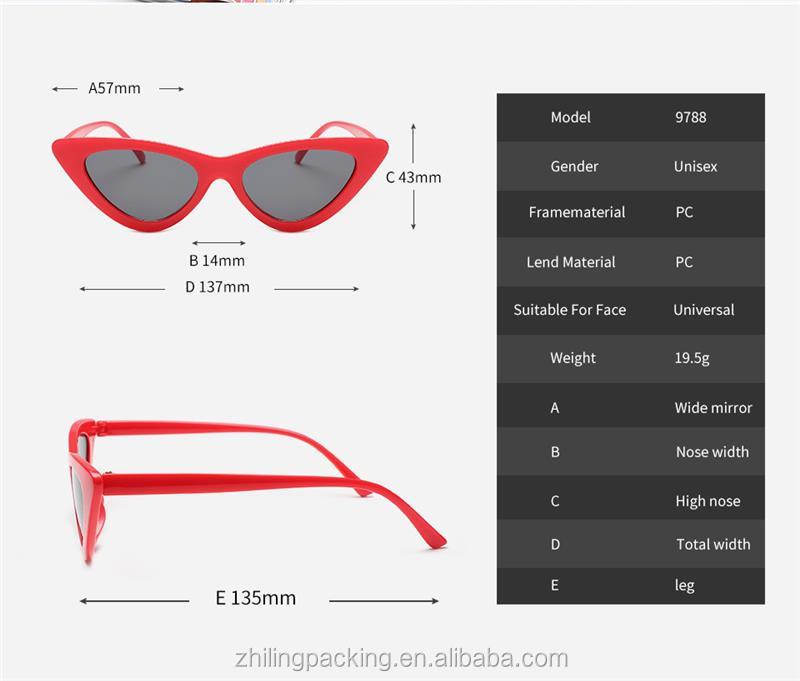 ZHILING 여성 태양 안경 복고풍 선글라스 낮은 가격