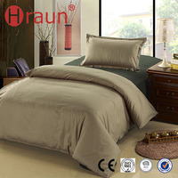 2015 Most People Love Home Textile High Quality Brown And Blue Bedding