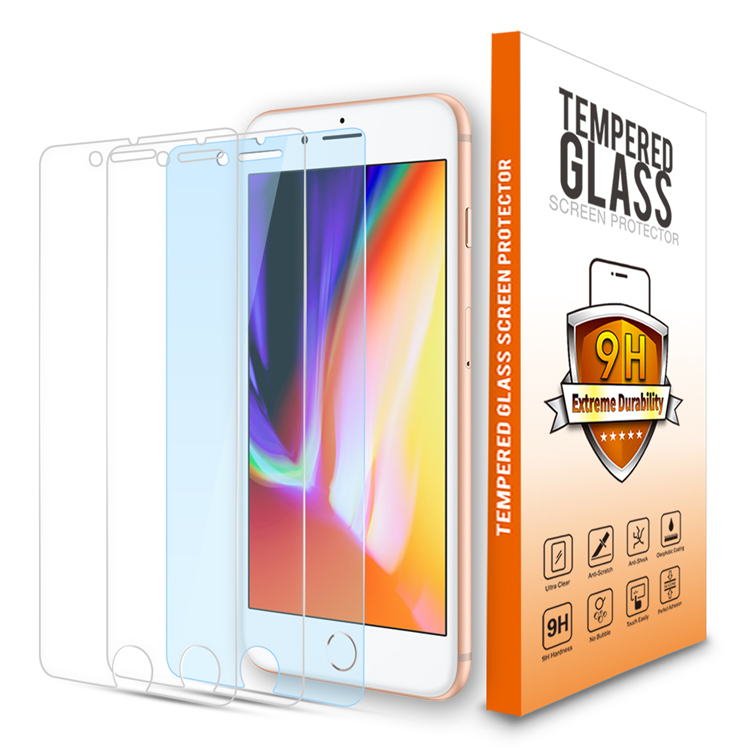Tempered Glass Screen Protector For iPhone 8[3 Pack ][Combined Package]with accessories