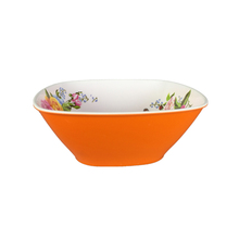 Best selling factory offer melamine ware square shape two tone restaurant plastic soup bowls