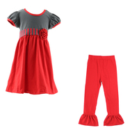 High quality girls pretty good clothing 2016 name brand kids clothes children's girls spring red clothing outfits