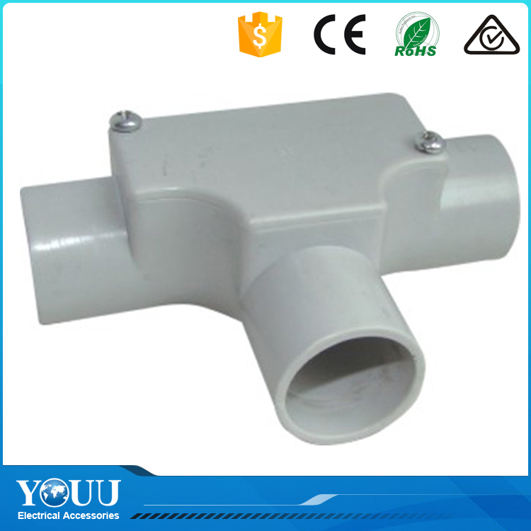 YOUU Best Selling Products PVC Pipe Electrical Conduit Inspection Tee Fittings