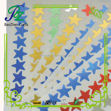 Making Glossy Gold Silver Wall chart Daily Schedule Label Reward Sticky foil stickers for children school supply