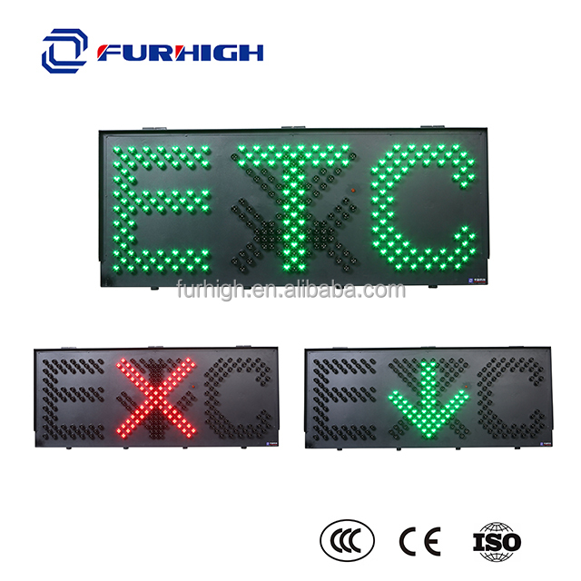 Road safety LED traffic signal traffic guide sign green arrow red cross ETC