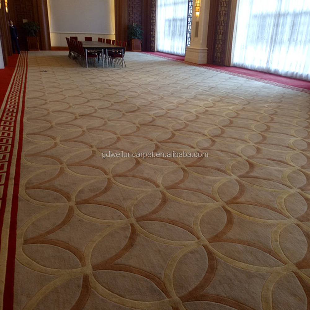 Broadloom carpets , hall/ banquet/office carpets were cutted into shapes