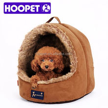 Round high quality luxury pu leather waterproof dog beds innovative pet products
