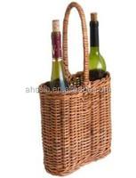 2 Bottle Wicker Wine Basket