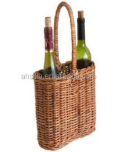 2 Bottle Wicker Wine Basket