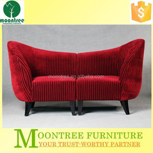 Moontree MSF-1108 Top Quality Luxury Red Fabric Villa Sofa