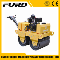 Walk behind double drum mini road roller compactor (FYL-S600C)