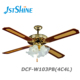 52 Inch Decorative Ceiling fan with lamps