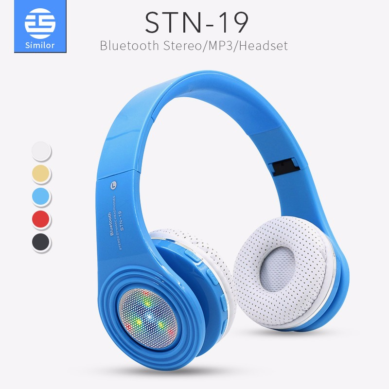 SD Card Wireless Stereo FM Radio Bluetooth 4.1 Headphones Headsets