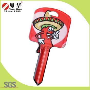 Indian Cartoon Key Blank color keys blank door blank key Pepper man gift key custom keys