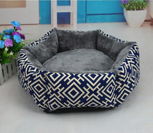 Hexagon Type Lovely Soft Pet Products With low Price fluff Dog Bed Pet House