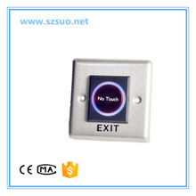 86*86mm Touchless Sensor Exit Switch NO Touch Exit Button