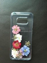 Ultra thin dried flower Soft TPU phone cover case for Samsung S8