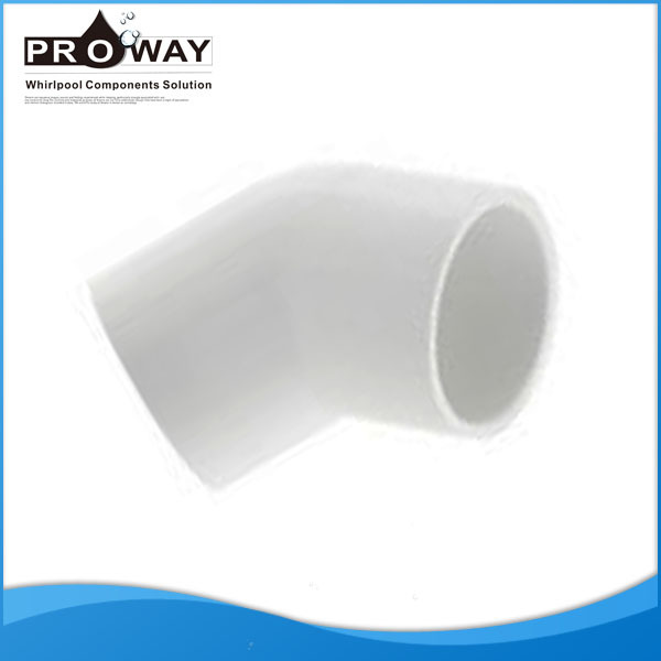 Hot Tub 45 Degree Plastic water supply Hose Connector Elbow PVC Pipe Fittings Direct