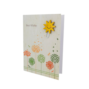 Any Occasion Best Wishes Greeting Card With Laser Cut Wood