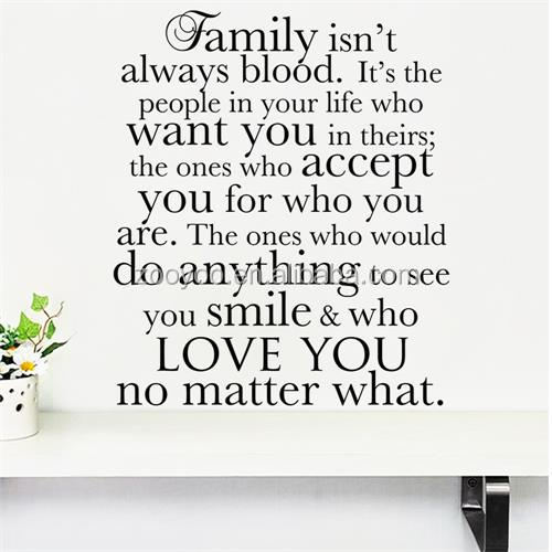 ZOOYOO import wall sticker decorative love your family no matter what wall decals (8539)