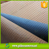 wholesale cross pattern nylon cambrelle,spunbonded used pp biodegradable nylon nonwoven fabric polyester mesh fabric