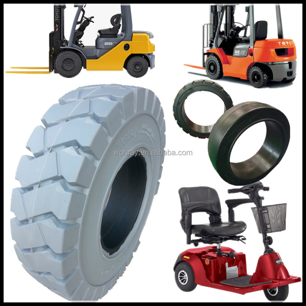 high quality solid tires 7.00-9, China cheap three wheel scooter and toyota forklift parts