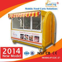 new condition food cart/food trailer with small wheels and big service window
