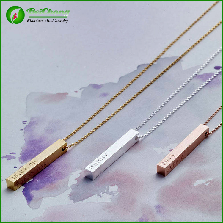 Cadena de oro Stainless Steel Three Color Wedding Gold Necklace Designs