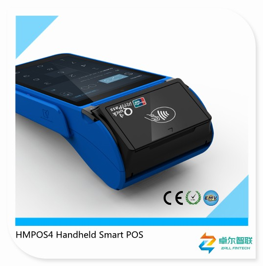 Portable Android 5.1 RFID ticketing loyalty POS terminal
