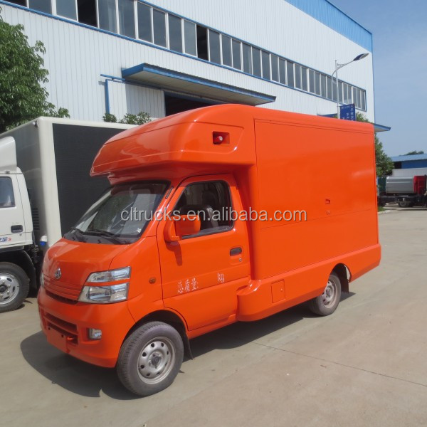 Factory sale cheap 4*2 CHANGAN mini selling foods truck