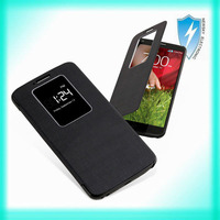 luxury leather flip case for lg optimus g2 d802