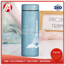 Eco-friendly BPA-free vacuum insulated stainless steel water bottle with screw cap wholesale