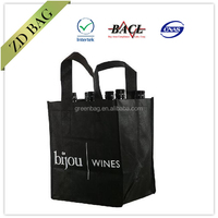 cheap printed 80gsm non woven wine tote bag