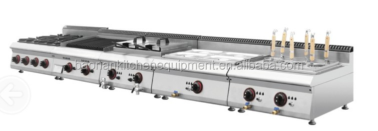 commercial stainless steel cooking equipment/hotel restaurant gas coooker with 4 burners BN600-G608 )