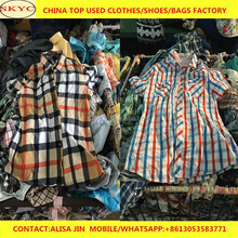 Hot sale men used clothes China summer shirts shorts for Africa second hand clothing buyers