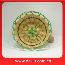 Custom Colorful Cheap Plastic Rattan Basket Promotion Poly Cane Basket