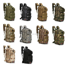 3P Multi Colors Camouflage Military Combat Gear 600D Polyester Canvas Army Pack Tactical Backpack Bag