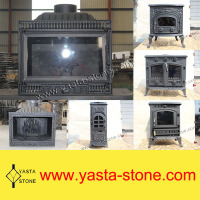 Insert Chinese Cast Iron Wood Burning Stove For Sale