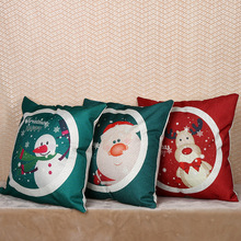 Customs Design Christmas Home Decorative Pillow Cover New Design Cotton Linen Cushion Cover