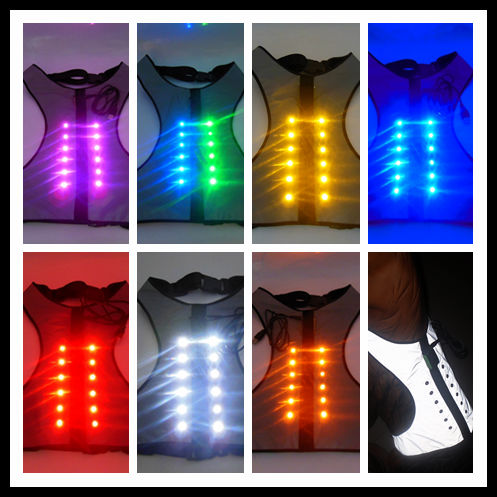 2014 new products led pet jacket led flashing jacket Reflective dog clothes