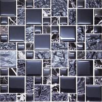 building materials home decorate black type mosaic tile