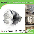 saa driverless spotlight 38degree indoor aluminum best price cob dimmable led