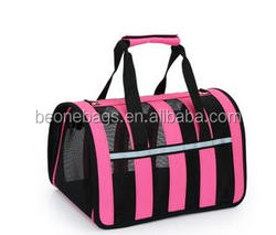 Wholesale portable foldable pink pet travel carrier