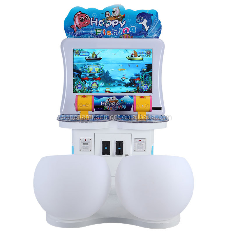 hot sale double players coin operated kids fishing game machine