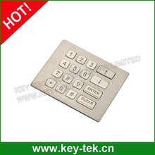 IP65 waterproof stainless industrial keypad