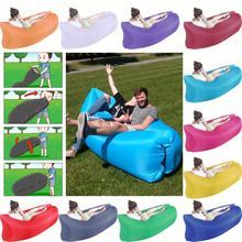 2016 Fast Filling Latest Sofa Design Air Bed Inflatable Airbed Banana Sleeping Bag Air Filled Laybag