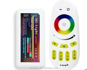 Milight Wifi RGB led strip controller 2.4G 12 /24V 4 zone touch Dimmer rf rgb led controller