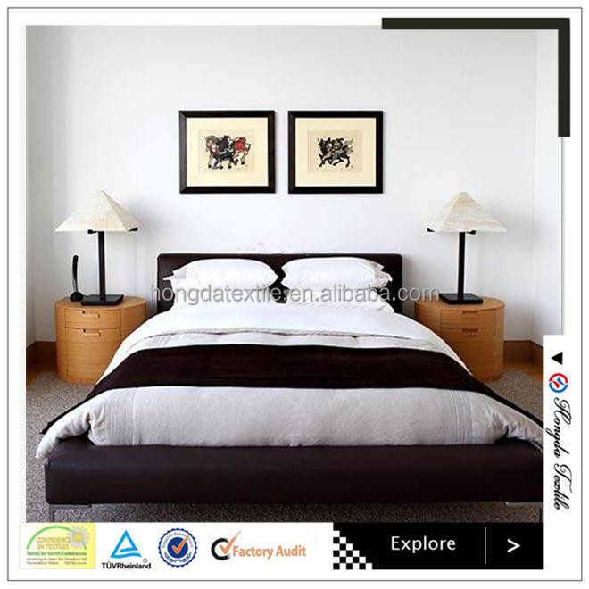 China supplier 50% cotton 50% polyester cheap bedding sheets/bed linen for hotels