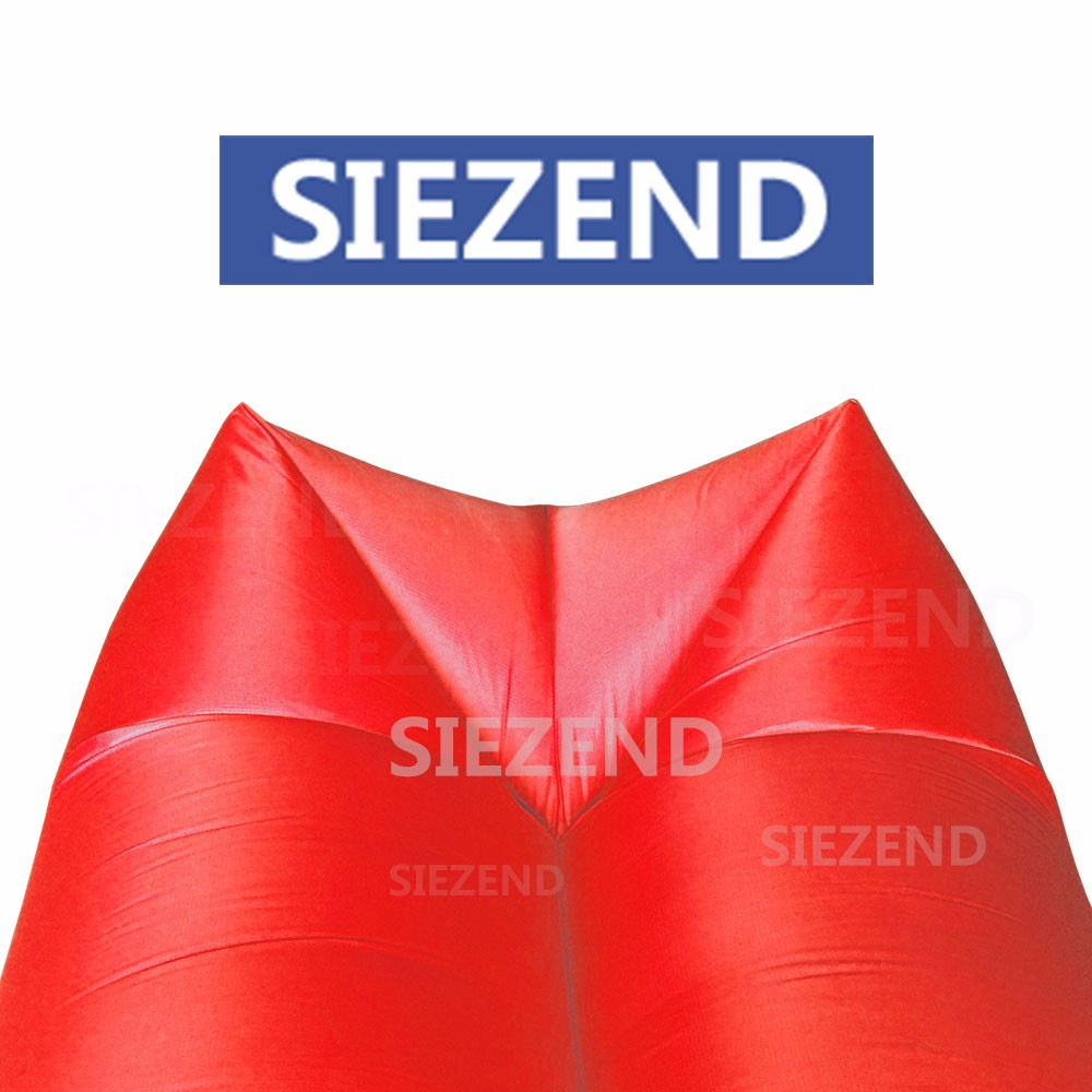 Outdoor Kantry Extra Wide Taffeta Fabric Inflating Sleeping Bag, Summer Beach Cool Inflatable Sleeping Bag Bed/