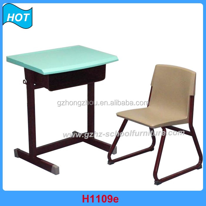 Senior Study Desk Metal Wooden Study Table For Students