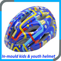 kids & youth mountain in-mold bike helmet could add LED light on the rear parts,casque velo
